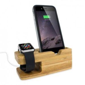 Iphone+Iwatch Bamboo állvány kicsi