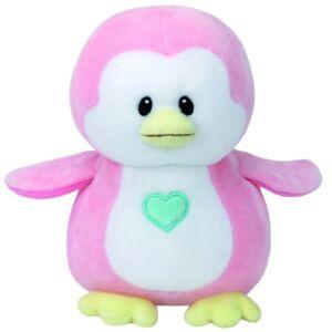 Baby TY plüss figura PENNY, 15 cm - rózsaszín pingvin
