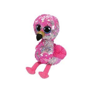 BOOS Flippables plüss figura PINKY, 15 cm - flitteres flamingó