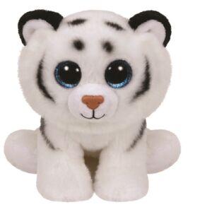 Beanie Babies plüss figura TUNDRA, 15 cm - fehér tigris