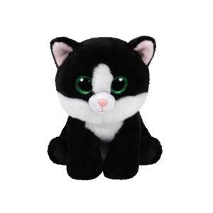 Beanie Babies plüss figura AVA, 15 cm - fekete macska
