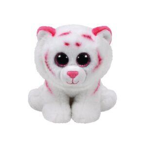 Beanie Babies plüss figura TABOR, 15 cm - rózsaszín-fehér tigris