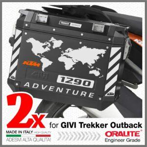 KTM 1290 ADVENTURE Fényvisszaverő Fehér matrica GIVI TREKKER OUTBACK