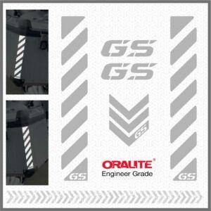 BMW GS Fehér fényvisszaverő matrica R1200GS 1150 F800 F650 F700