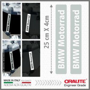 2x BMW Motorrad Fehér fényvisszaverő matrica R1200 1150 F800 F650 F700 GS