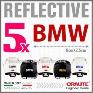 5DB Piros fényvisszaverő BMW sisak matrica R1200 1150 F800 F650 F700 GSA
