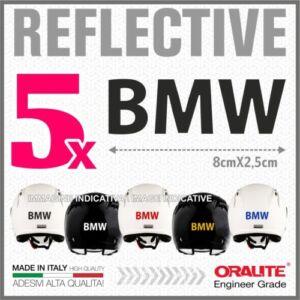 5DB fekete fényvisszaverő BMW sisak matrica R1200 1150 F800 F650 F700 GSA