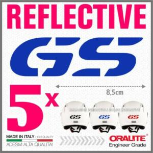 5DB Kék fényvisszaverő BMW GS sisakmatrica R1200 1150 F800 F650 F700 GS