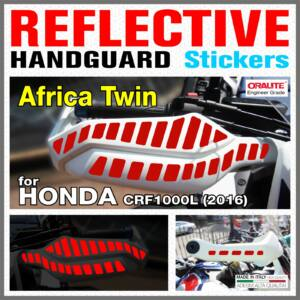 Honda Africa Twin CRF1000L HONDA 2016 Kézvédő piros matrica