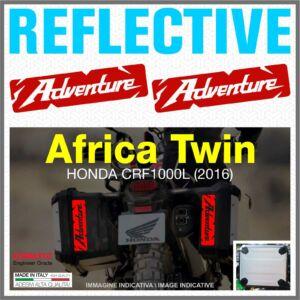 Honda ADVENTURE piros Africa Twin CRF1000L 2016 fényvisszaverő matrica
