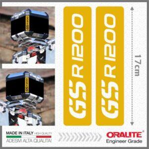 BMW R1200GS Sárga Fényvisszaverő matrica TOP CASE