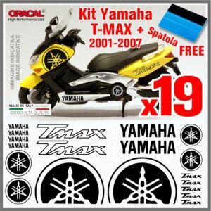 YAMAHA T-MAX Fekete 19db-os matrica szett