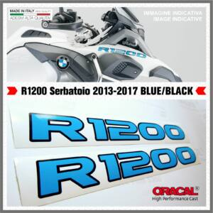 BMW R1200 Fekete_Kék R1200GS 13-17 LC Matrica