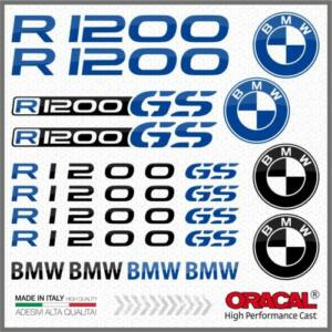 BMW R1200GS 16db-os Szett Fekete_Kék Matrica