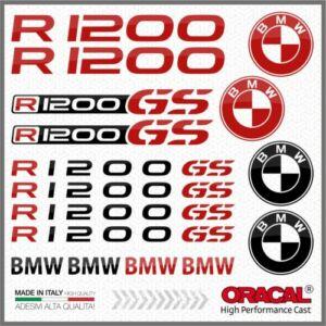 BMW R1200GS 16db-os Szett Fekete_Piros Matrica