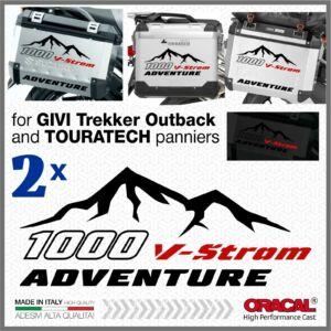 2x Suzuki V-Strom 1000 Fekete/Piros Advanture matrica