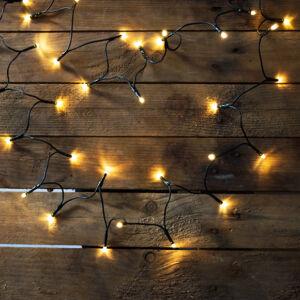 Dekortrend beltéri LED fényfüzér 120db meleg fehér, 9,6m, zöld kábel