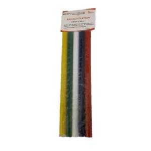 Ragasztópisztoly betét színes 1,1x18cm, 5db