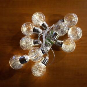 Dekor 10db led IZZÓK fényfüzér, elemes, 2m