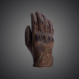Monster BROWN gloves Lady, 4SR Motoros barna kesztyű S