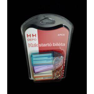 Kulcstartó biléta 4 db/csomag 2.5 x 6 cm