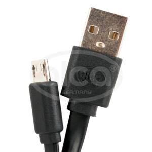 Micro USB 2,0 kábel, fekete ALCA Germany