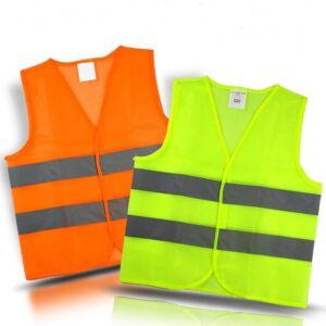 Autós mellény Fényvisszaverő csíkokkal, narancssárga XL, láthatósági mellény