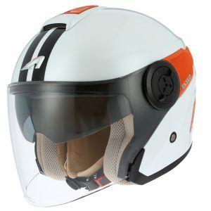 Astone DJ10 nyitott bukósisak fehér-narancs