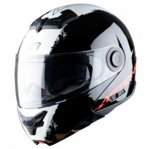 Astone RT 800 felnyitható bukósisak Stripe Fekete-fehér