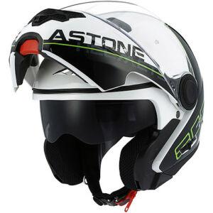 Astone RT 800 felnyitható bukósisak Linetek zöld-fehér