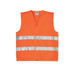 Extra 130gr, Autós mellény Fényvisszaverő csíkokkal Orange XL, láthatósági mellény