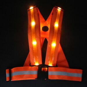 LED Kerékpáros-Motoros, Fényvisszaverő Heveder, Orange, tölthető akku