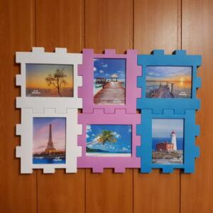 Képkeret színes puzzle, 53*36cm