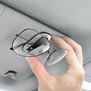 Baseus Platinum autós rögzítőcsipesz szemüvegekhez, ezüst