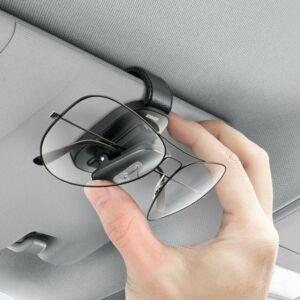 Baseus Platinum autós rögzítőcsipesz szemüvegekhez, fekete, napellenzőre