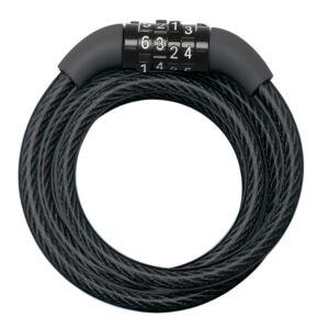 1,20M X 8mm fix kombinációs kábelzár - Fekete