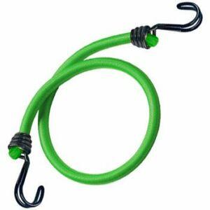 2 db-os dupla kampós gumipók, 80cm x 8mm, 40kg, zöld