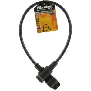 Acél kábelzár kulccsal  65cm x Ř 8mm, 2db kulcs, fekete-színtelen