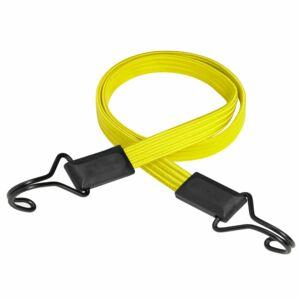 Lapos gumipók 100cm x 18mm,-40kg,sárga,dupla kampóval