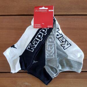 Kappa FFI rövid szárú zokni, NEW_II-vegyes szín, 39-42, 3db-os