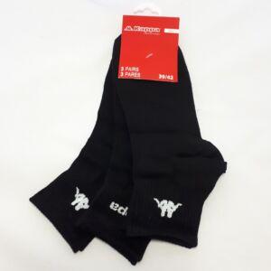 Kappa FFI Sport zokni, fekete, 39-42, 3db-os
