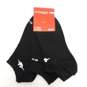 Kappa FFI rövid szárú zokni, fekete/fehér, 39-42, 3db-os