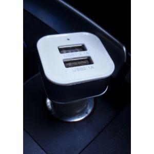 Autós töltő adapter 2*usb
