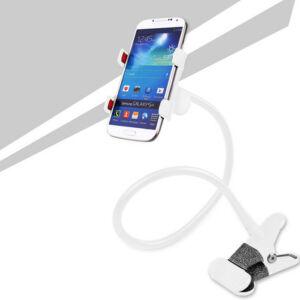 Csipeszes telefon tartó, flexibilis karral mobil tartó