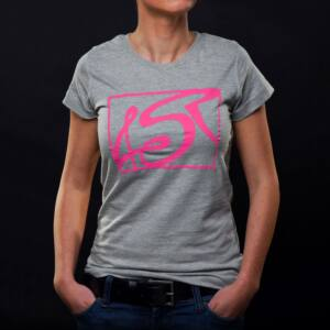 T shirt Hot Pink Grey