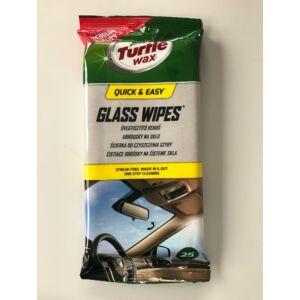 Turtle Wax üvegtisztitó kendő, 25db/tasak