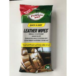Turtle Wax bőrápoló-tisztitókendő, 25db/tasak