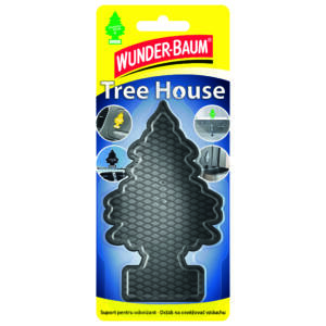 Wunderbaum, Tree House légfrissítő tartó fekete 1db