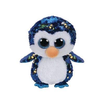 BOOS Flippables plüss figura PAYTON, 15 cm - flitteres pingvin
