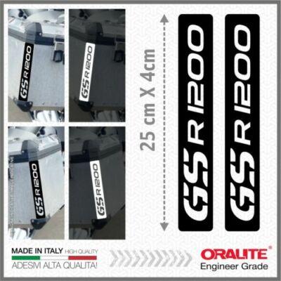 BMW R1200GS Fekete fényvisszaverő matrica TOP CASE